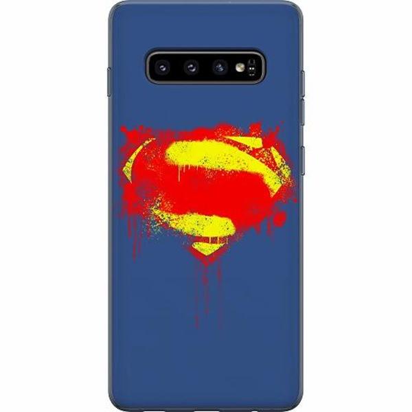 Samsung Galaxy S10 Plus Mjukt skal - Superman Splat
