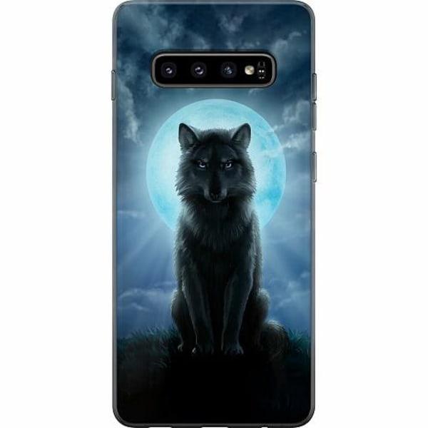 Samsung Galaxy S10 Plus Mjukt skal - Wolf in the Dark