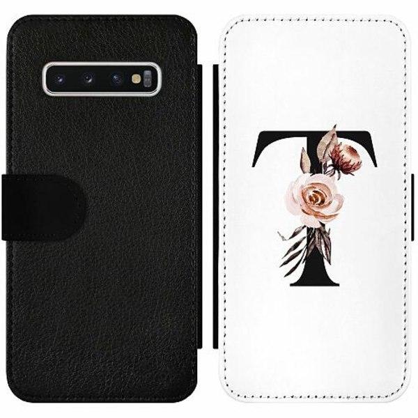 Samsung Galaxy S10 Wallet Slim Case Bokstäver
