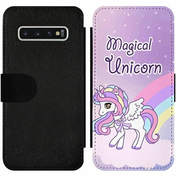 Samsung Galaxy S10 Wallet Slim Case UNICORN