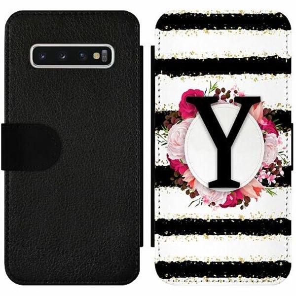 Samsung Galaxy S10 Wallet Slim Case Y