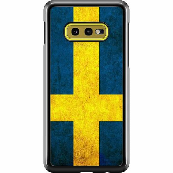 Samsung Galaxy S10e Hard Case (Svart) Heja Sverige / Sweden
