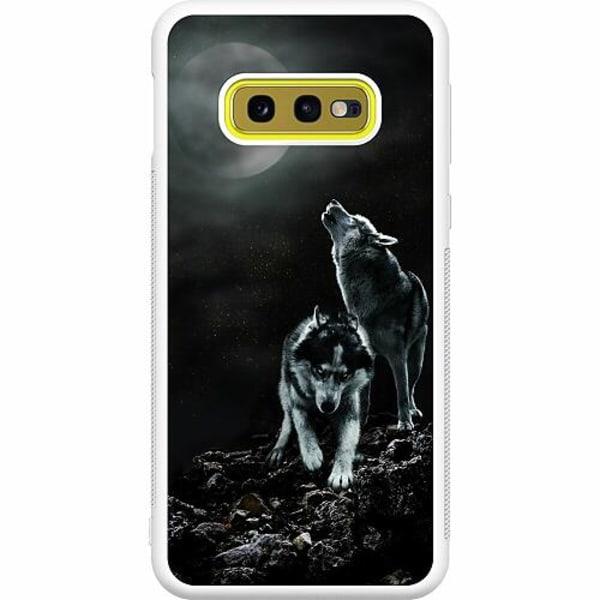 Samsung Galaxy S10e Soft Case (Vit) Howling Wolves