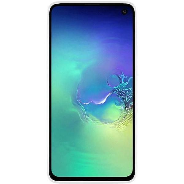 Samsung Galaxy S10e Vitt Mobilskal med Glas Statement