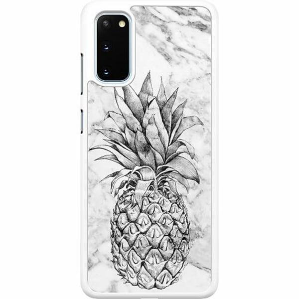 Samsung Galaxy S20 Hard Case (Vit) Ananas