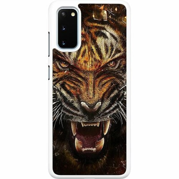 Samsung Galaxy S20 Hard Case (Vit) Angry Tiger