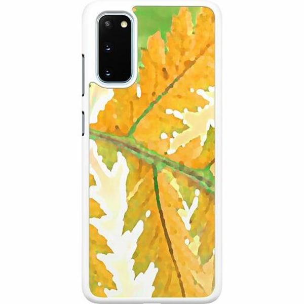 Samsung Galaxy S20 Hard Case (Vit) Autumn Left