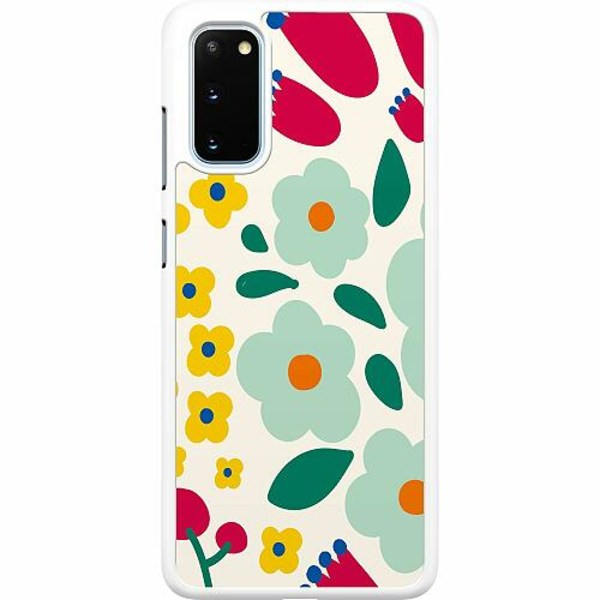 Samsung Galaxy S20 Hard Case (Vit) Baby Flowers