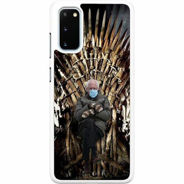 Samsung Galaxy S20 Hard Case (Vit) Bernie Sanders Meme