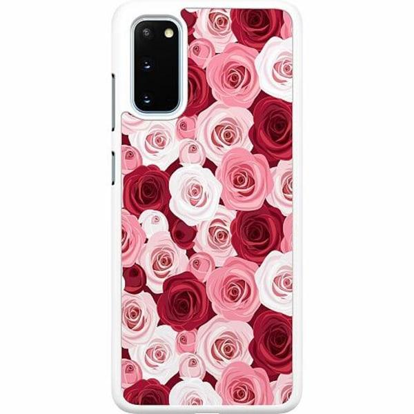 Samsung Galaxy S20 Hard Case (Vit) Blommor
