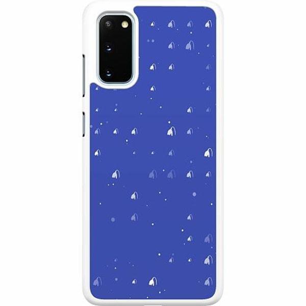 Samsung Galaxy S20 Hard Case (Vit) Bubbles Invaders