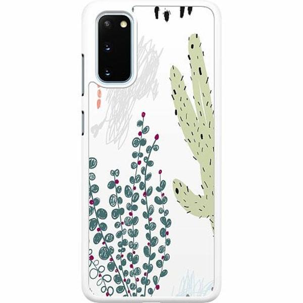 Samsung Galaxy S20 Hard Case (Vit) Cactus Or Cacti