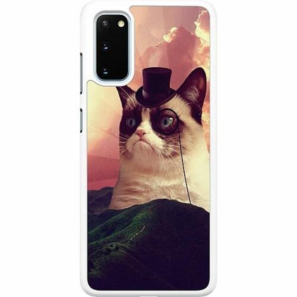 Samsung Galaxy S20 Hard Case (Vit) Cat Af Grund