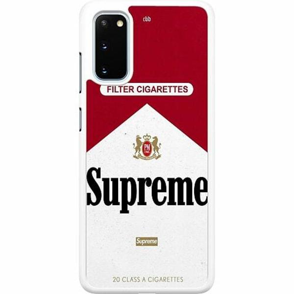 Samsung Galaxy S20 Hard Case (Vit) Cigarette Package