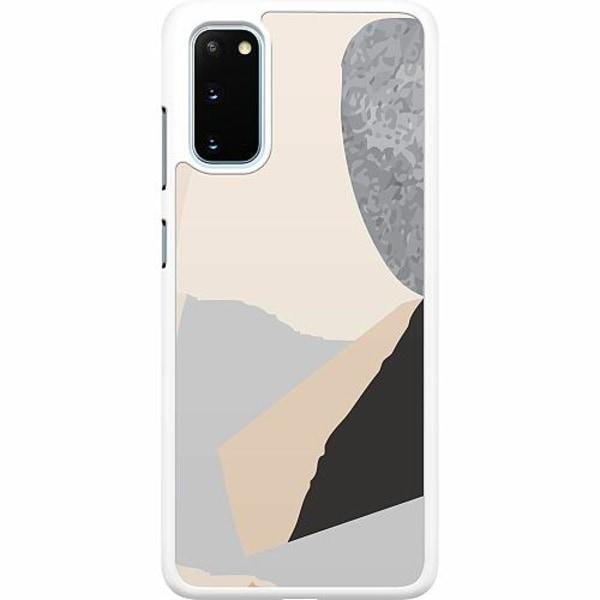 Samsung Galaxy S20 Hard Case (Vit) Cut In Half