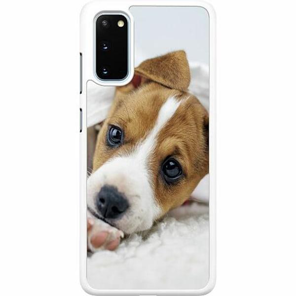Samsung Galaxy S20 Hard Case (Vit) Cute Puppy