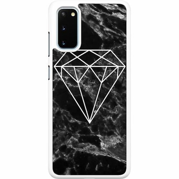 Samsung Galaxy S20 Hard Case (Vit) Diamant