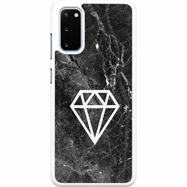 Samsung Galaxy S20 Hard Case (Vit) Diamond