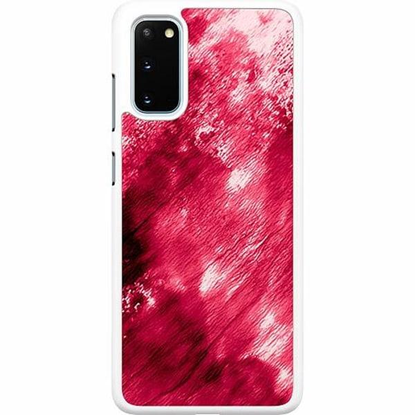 Samsung Galaxy S20 Hard Case (Vit) Fake Blood