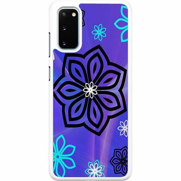 Samsung Galaxy S20 Hard Case (Vit) Flower on LCD