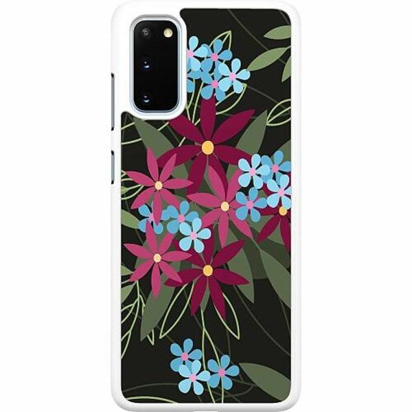 Samsung Galaxy S20 Hard Case (Vit) Flowerz