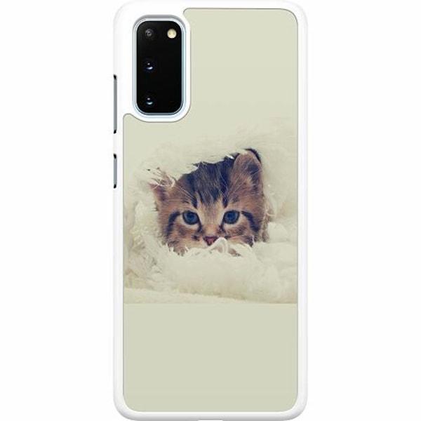 Samsung Galaxy S20 Hard Case (Vit) Grumpy Cat