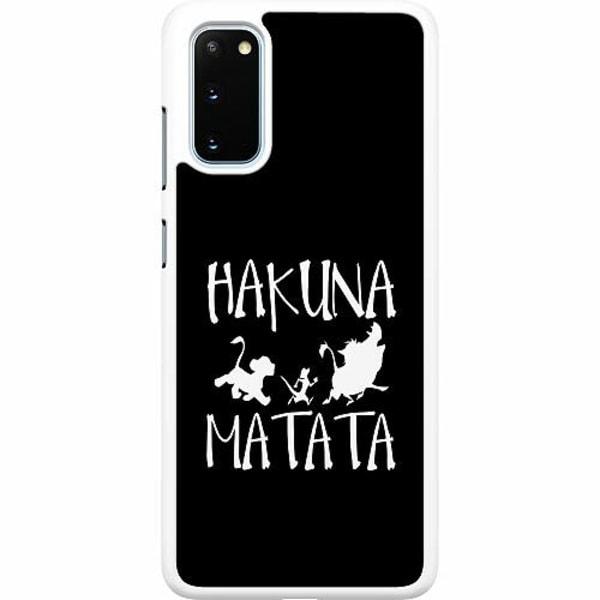 Samsung Galaxy S20 Hard Case (Vit) Hakuna Matata