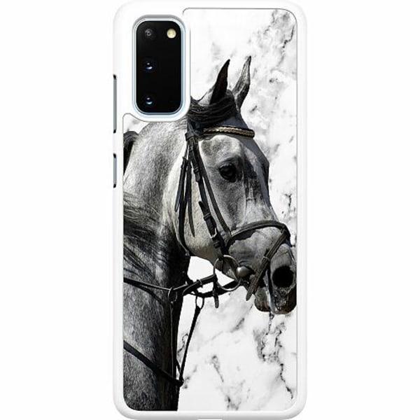 Samsung Galaxy S20 Hard Case (Vit) Häst