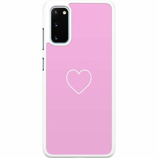 Samsung Galaxy S20 Hard Case (Vit) Hjärta