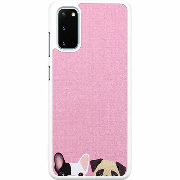 Samsung Galaxy S20 Hard Case (Vit) Hundar