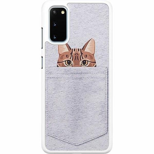 Samsung Galaxy S20 Hard Case (Vit) Katt