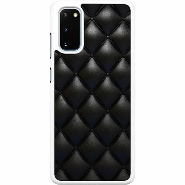 Samsung Galaxy S20 Hard Case (Vit) Leather Black