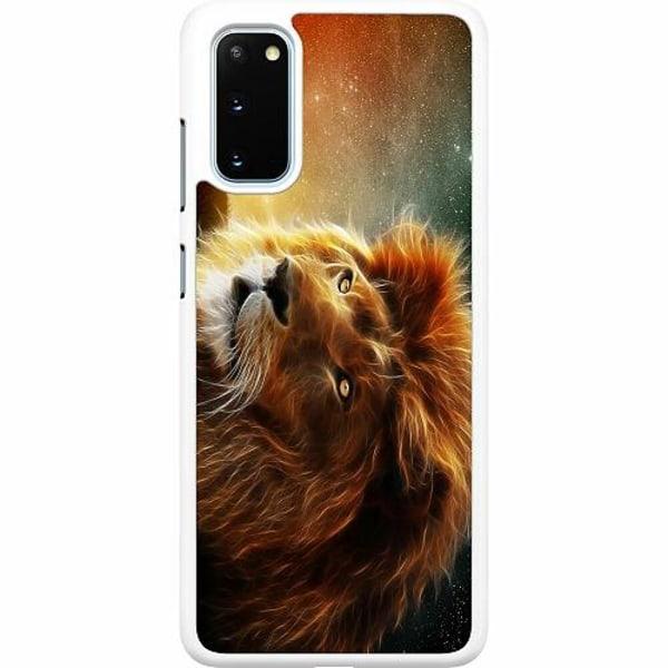 Samsung Galaxy S20 Hard Case (Vit) Lejon