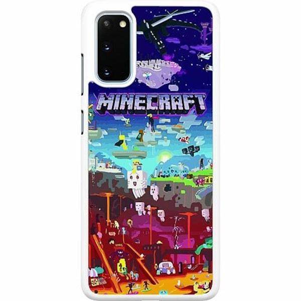 Samsung Galaxy S20 Hard Case (Vit) MineCraft