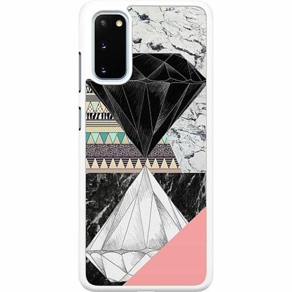Samsung Galaxy S20 Hard Case (Vit) Mönster