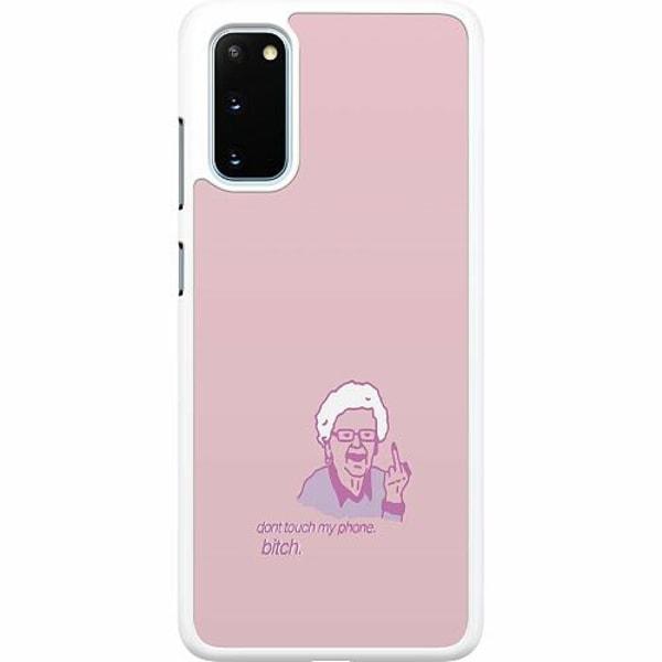 Samsung Galaxy S20 Hard Case (Vit) My phone bitch