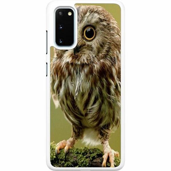 Samsung Galaxy S20 Hard Case (Vit) Owl
