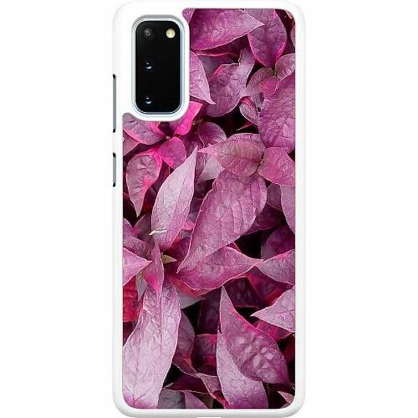 Samsung Galaxy S20 Hard Case (Vit) Pink Shrubs