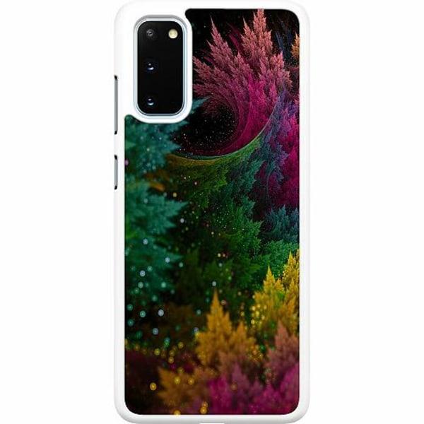 Samsung Galaxy S20 Hard Case (Vit) Pixel Forest