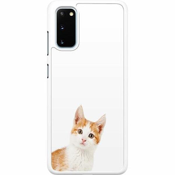 Samsung Galaxy S20 Hard Case (Vit) PopUp Cat