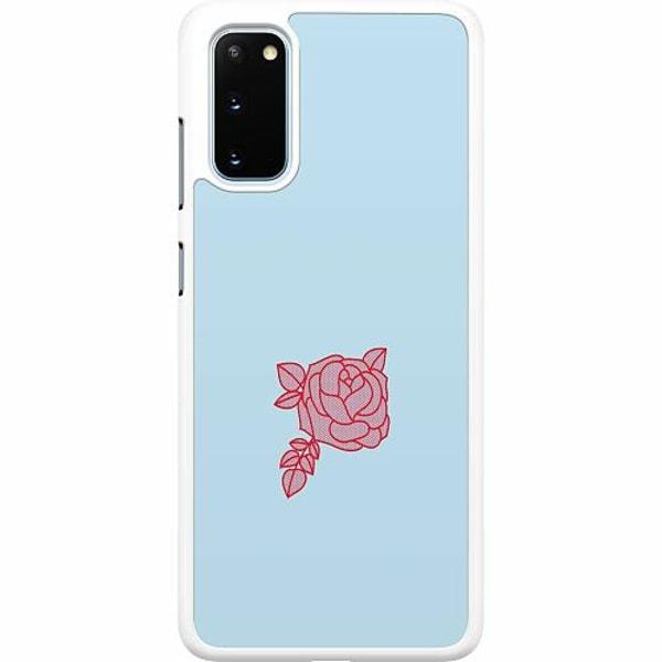 Samsung Galaxy S20 Hard Case (Vit) Rose