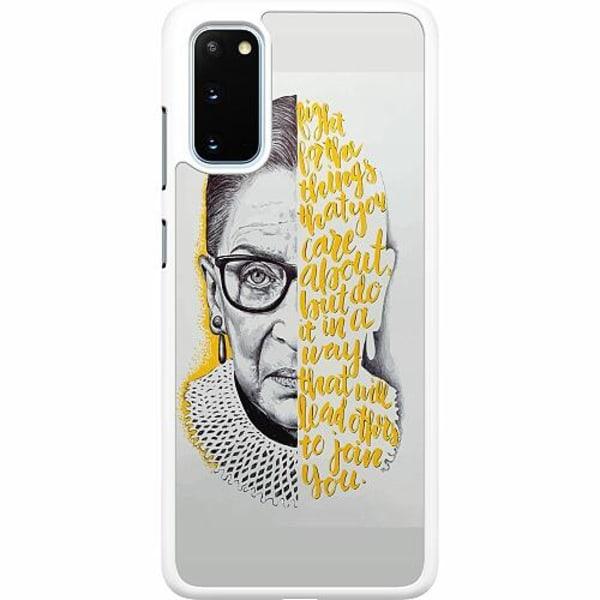 Samsung Galaxy S20 Hard Case (Vit) Ruth Bader Ginsburg (RBG)