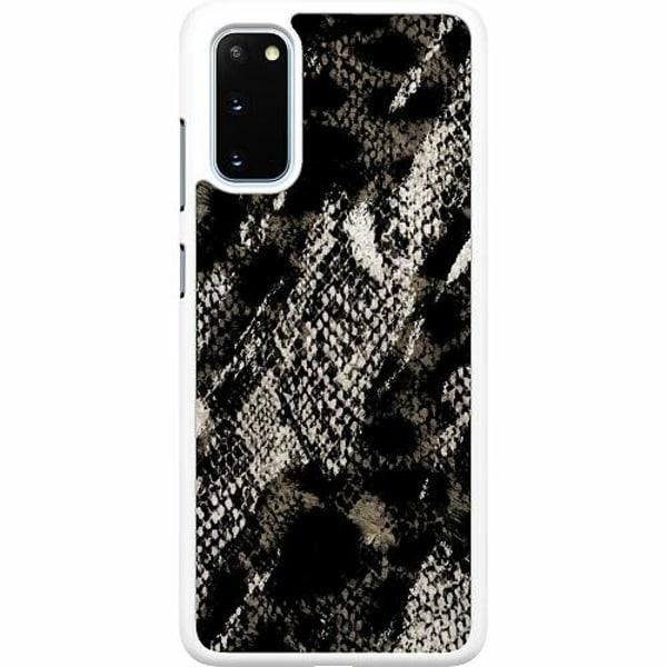 Samsung Galaxy S20 Hard Case (Vit) Snakeskin G