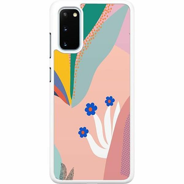 Samsung Galaxy S20 Hard Case (Vit) Surfs Up, Coral