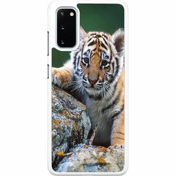 Samsung Galaxy S20 Hard Case (Vit) Tiger