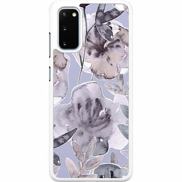 Samsung Galaxy S20 Hard Case (Vit) Watermark Petals