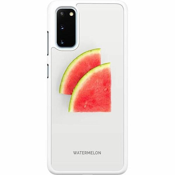 Samsung Galaxy S20 Hard Case (Vit) Watermelon