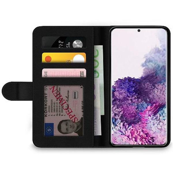 Samsung Galaxy S20 Wallet Case Blue Flower