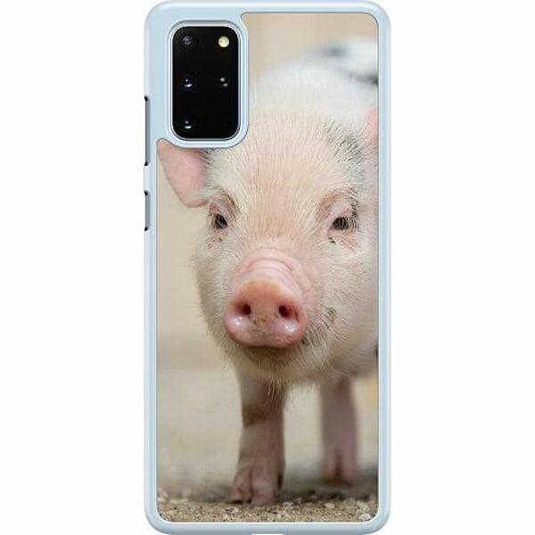 Samsung Galaxy S20 Plus Hard Case (Transparent) Happy Pig