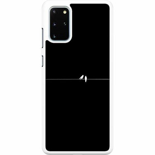 Samsung Galaxy S20 Plus Hard Case (Vit) Minimalist Birds Black